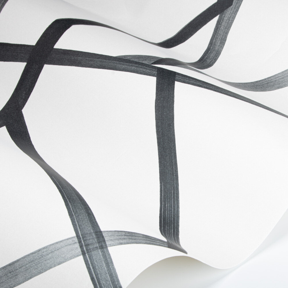 Sumi Wallpaper - Pearl/Charcoal - by Harlequin