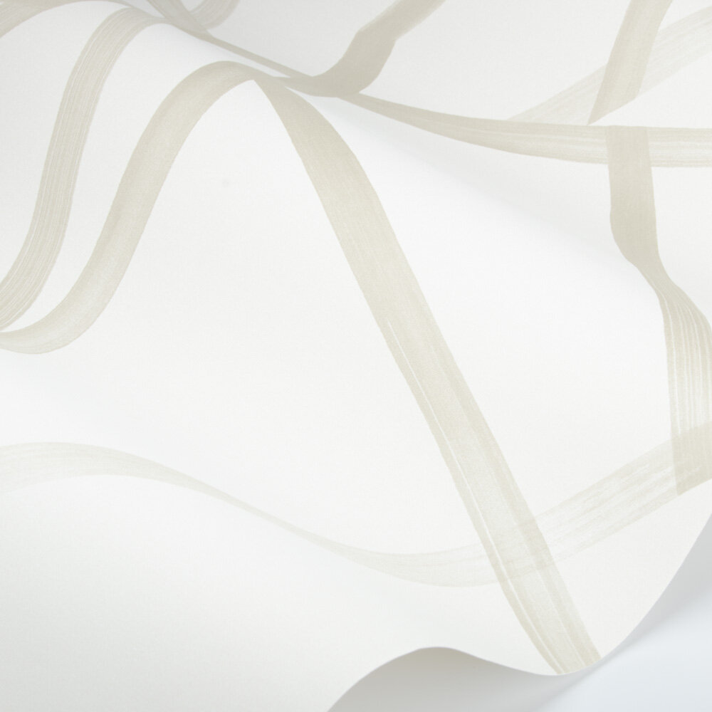 Sumi Wallpaper - Oyster/Gilver - by Harlequin