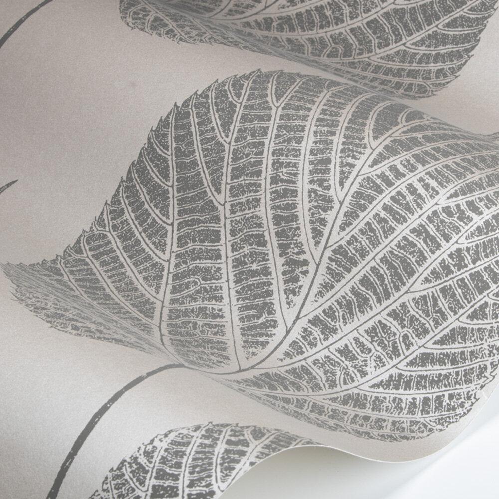 Leaf Wallpaper - Slate/Silver - by Harlequin