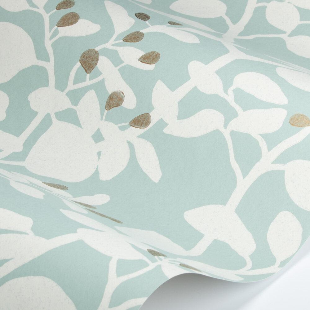 Ardisia Wallpaper - Succulent/Soft Focus/Gold - by Harlequin