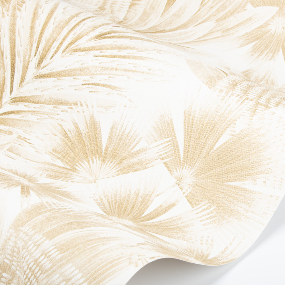 Matupi Wallpaper - Parchment/ Gold - by Harlequin