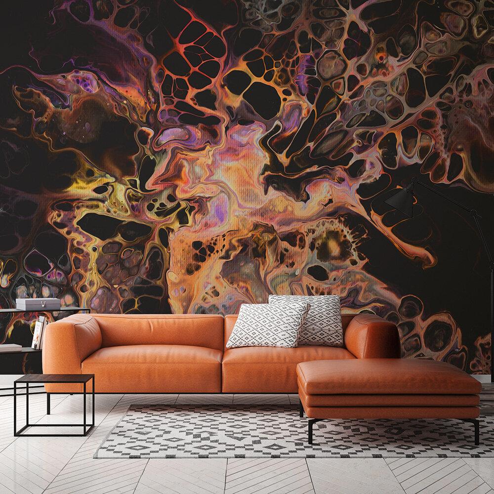 Acryl Mural - Orange - by ARTist