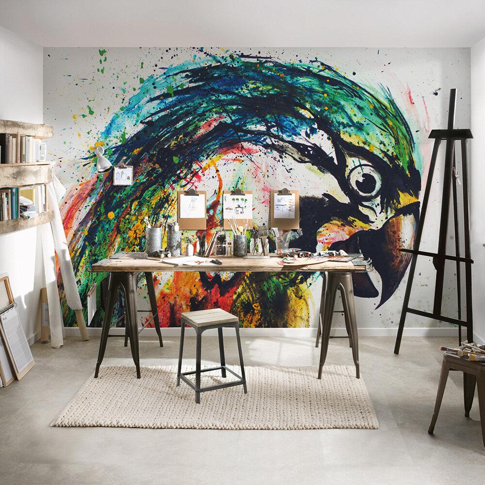 Parrot Mural - Multi - by ARTist