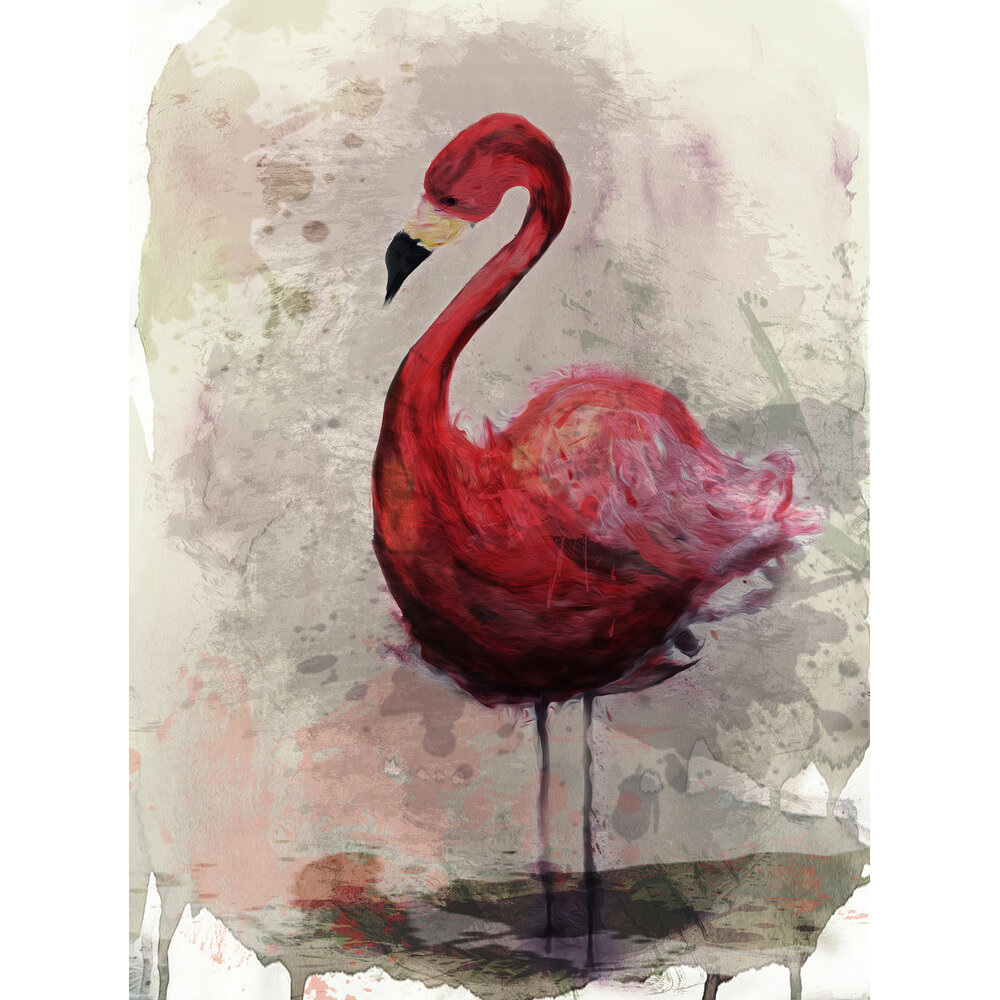 Flamingo Mural - Pink - by ARTist