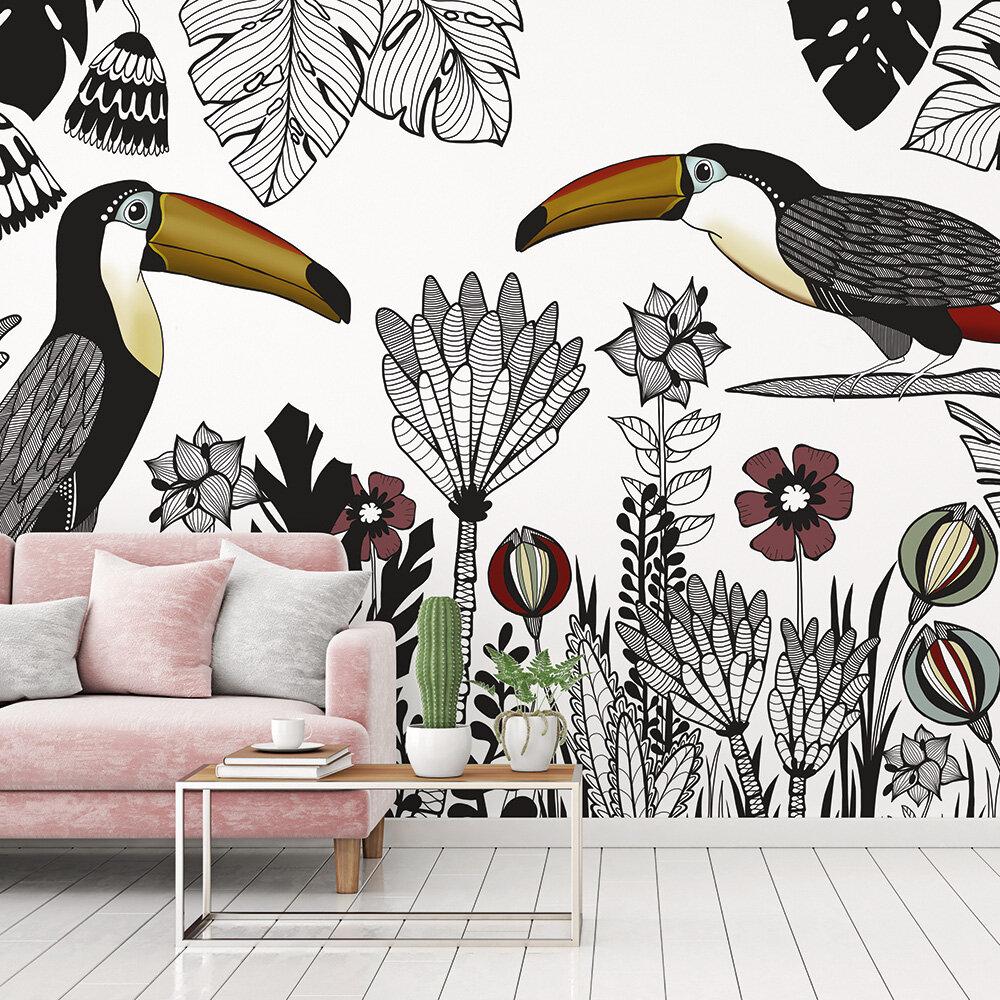 Tukan Mural - Multi/white - by ARTist