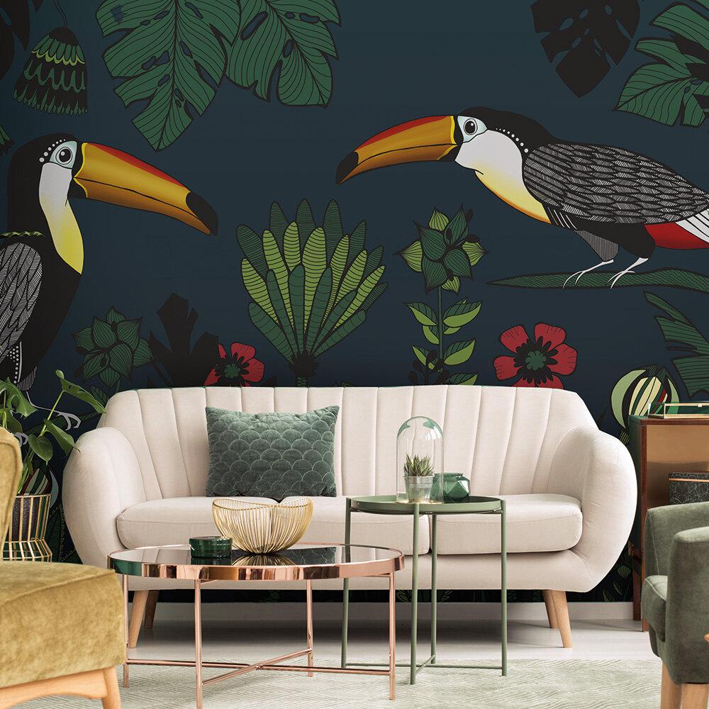 Tukan Mural - Multi-Green - by ARTist
