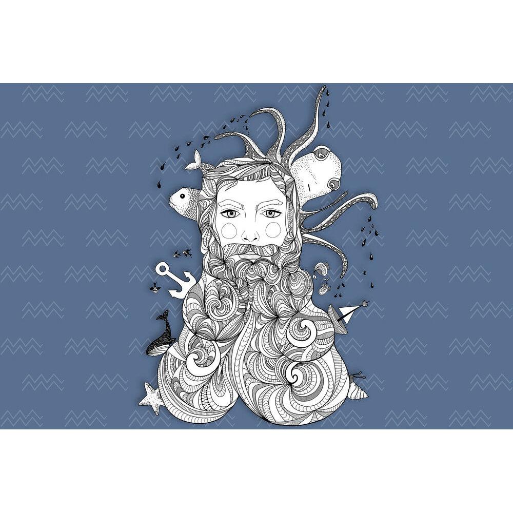 Aquarius Mural - Blue - by ARTist