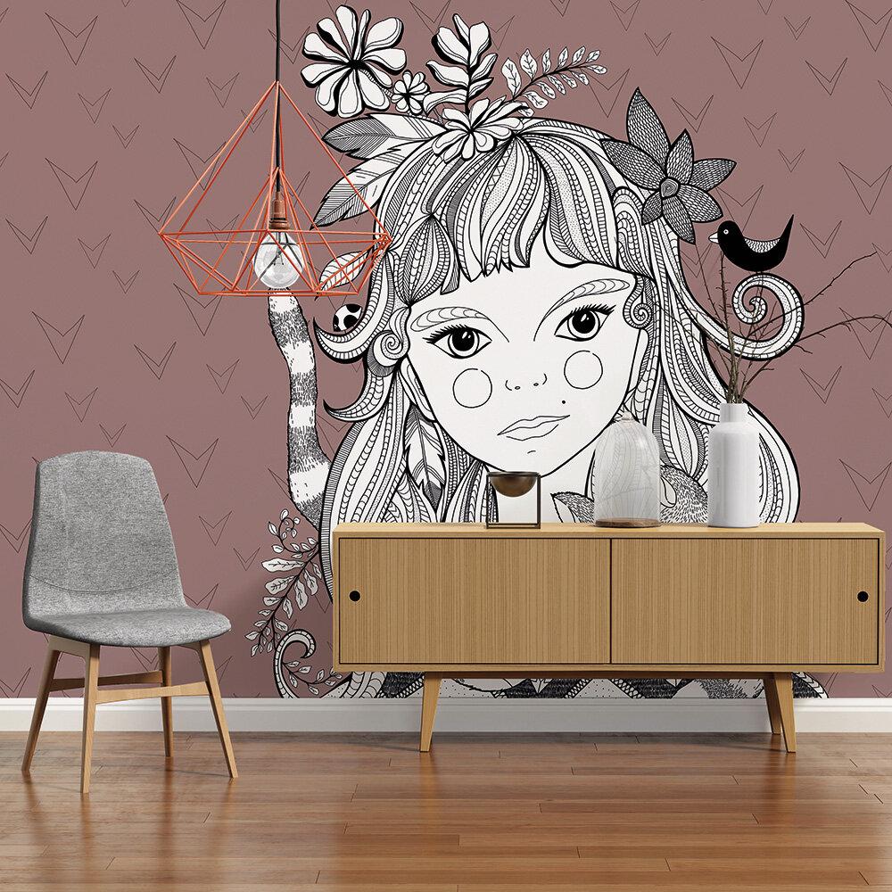 Cat girl Mural - Pink - by ARTist