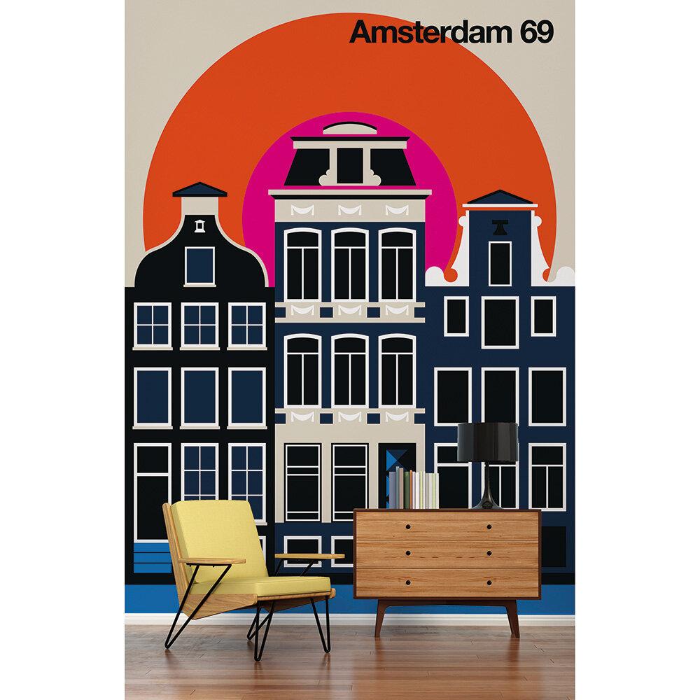 Amsterdam 69 Mural - Multi - by ARTist