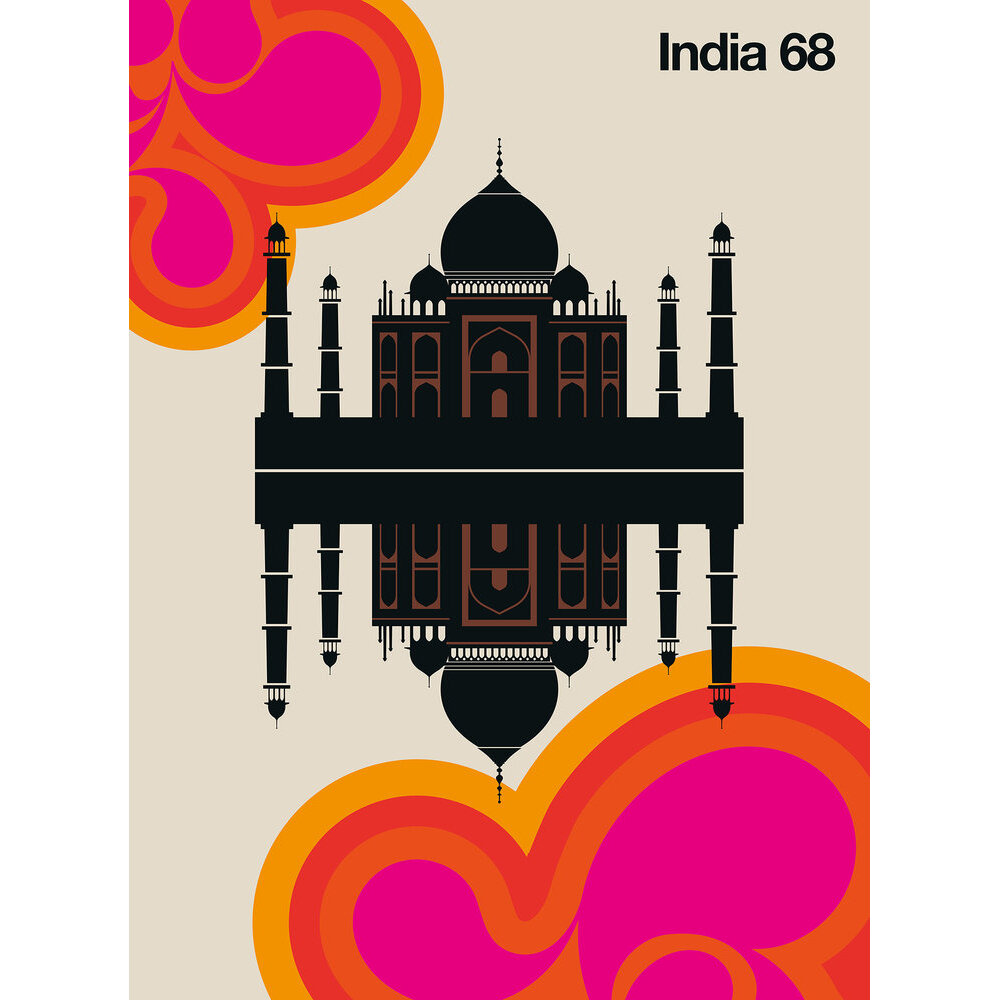 India 68 Mural - Multi - by ARTist