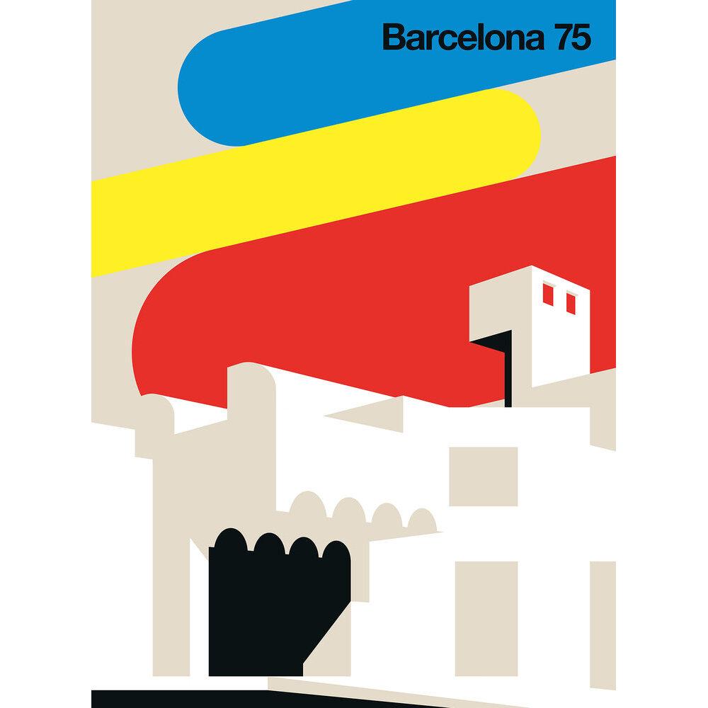 Barcelona 75 Mural - Multi - by ARTist