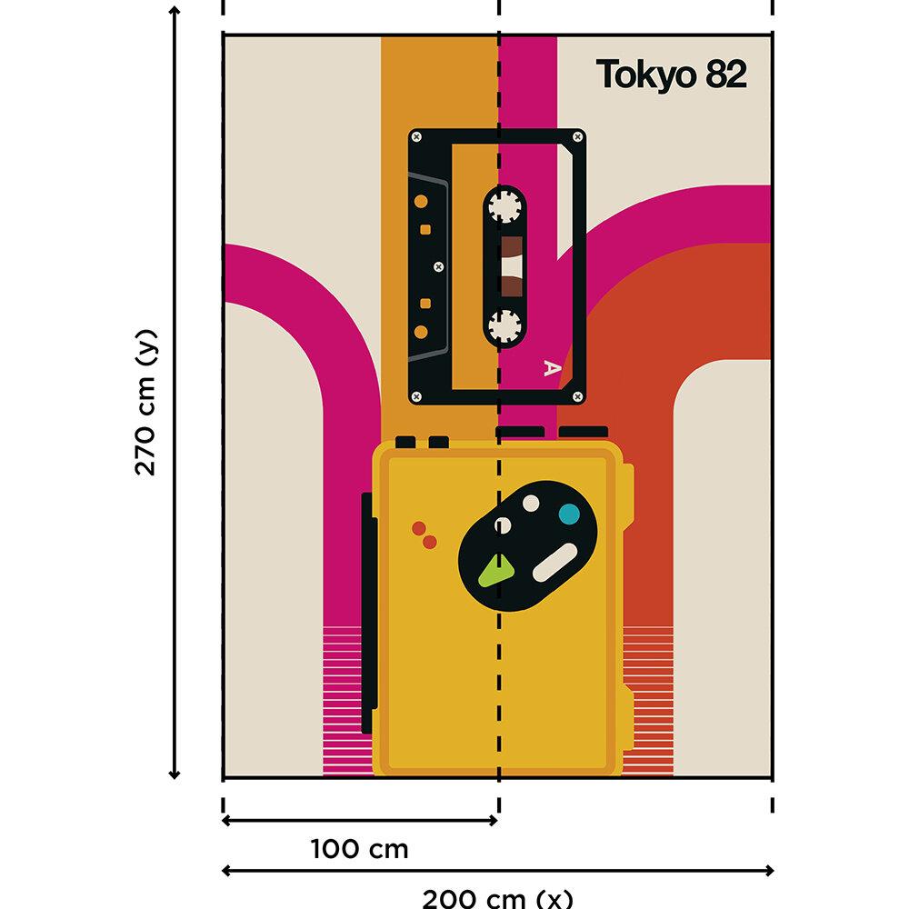 Tokyo 82 Mural - Multi - by ARTist