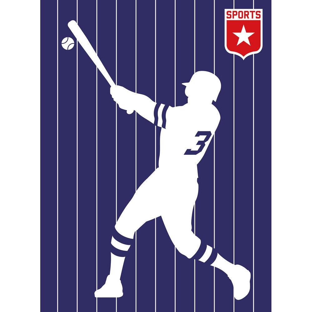 Baseball      Mural - Purple - by ARTist