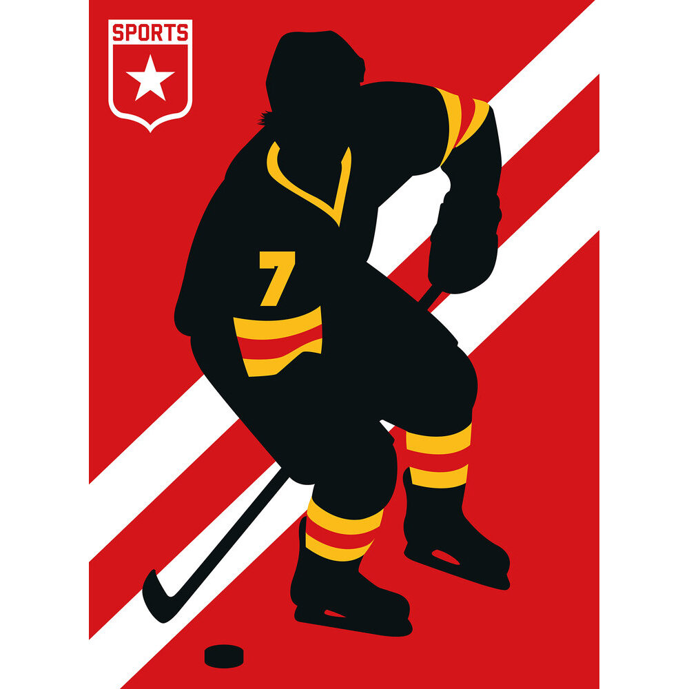 Ice Hockey Mural - Red - by ARTist