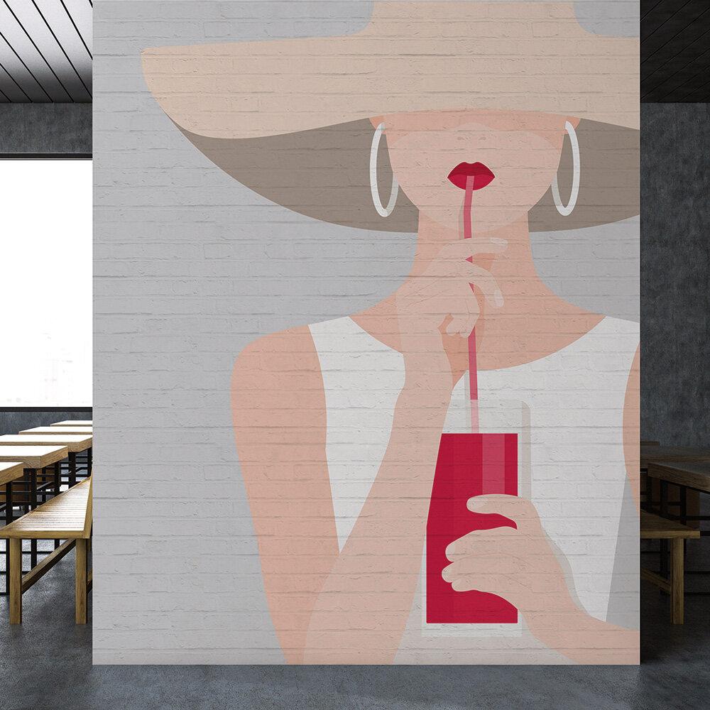 Audrey Mural - Grey - by ARTist