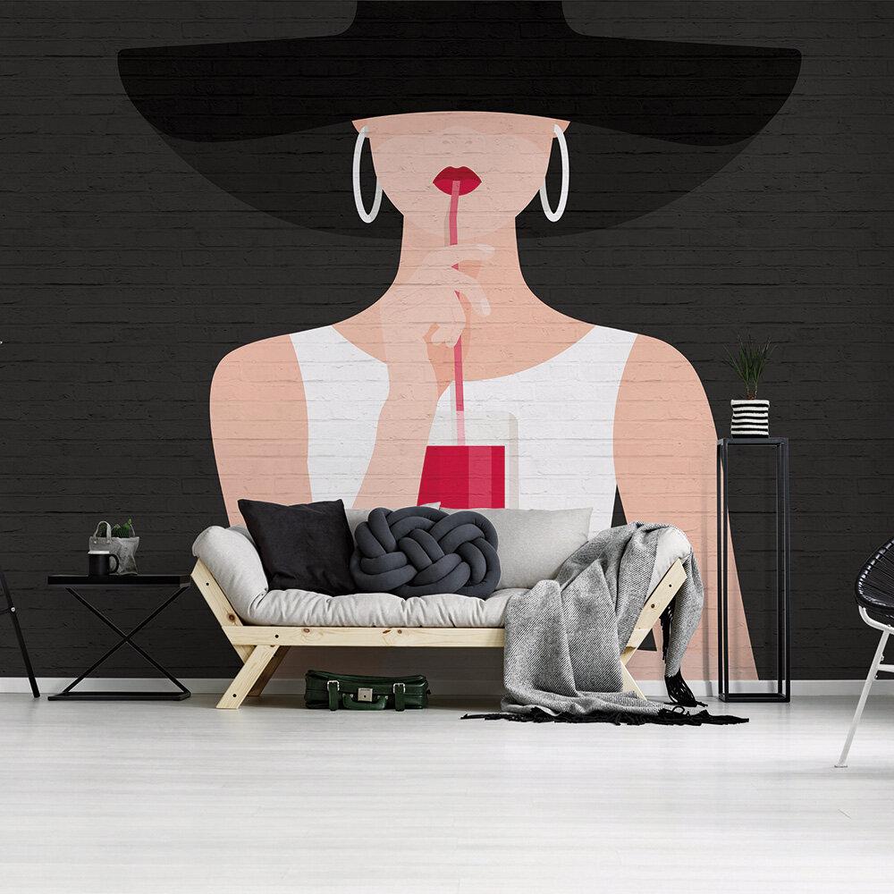 Audrey Mural - Black - by ARTist