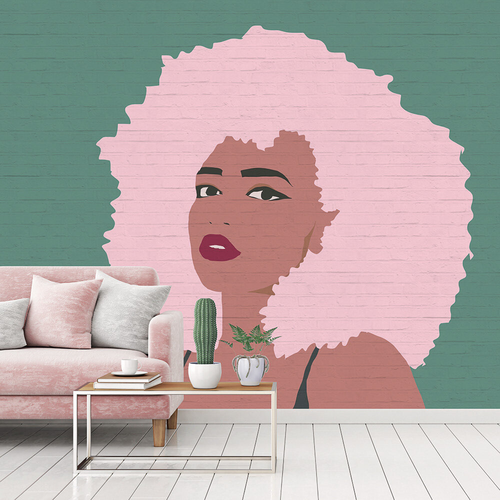 Whitney Mural - Pink/Teal - by ARTist