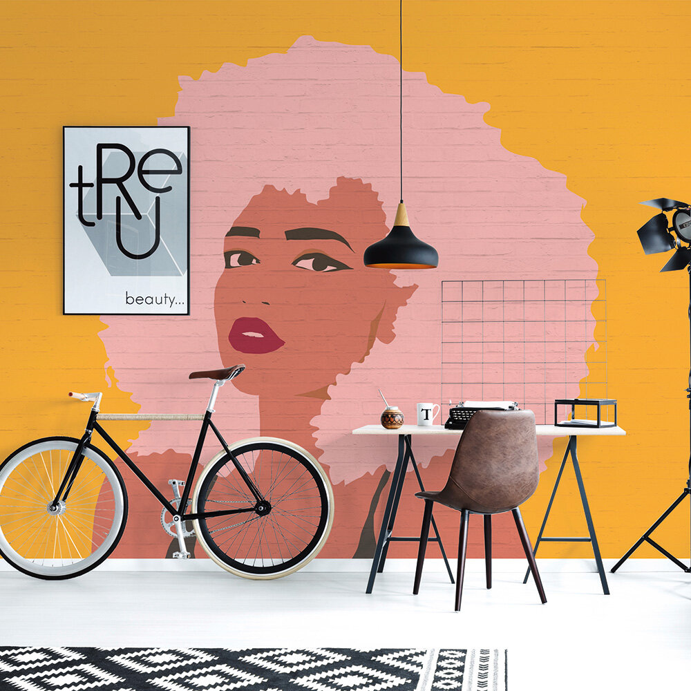Whitney Mural - Pink/Orange - by ARTist