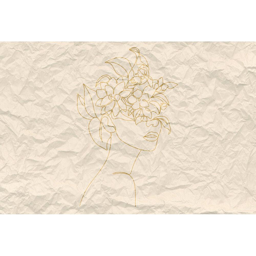 Paper Face Mural - Beige - by ARTist