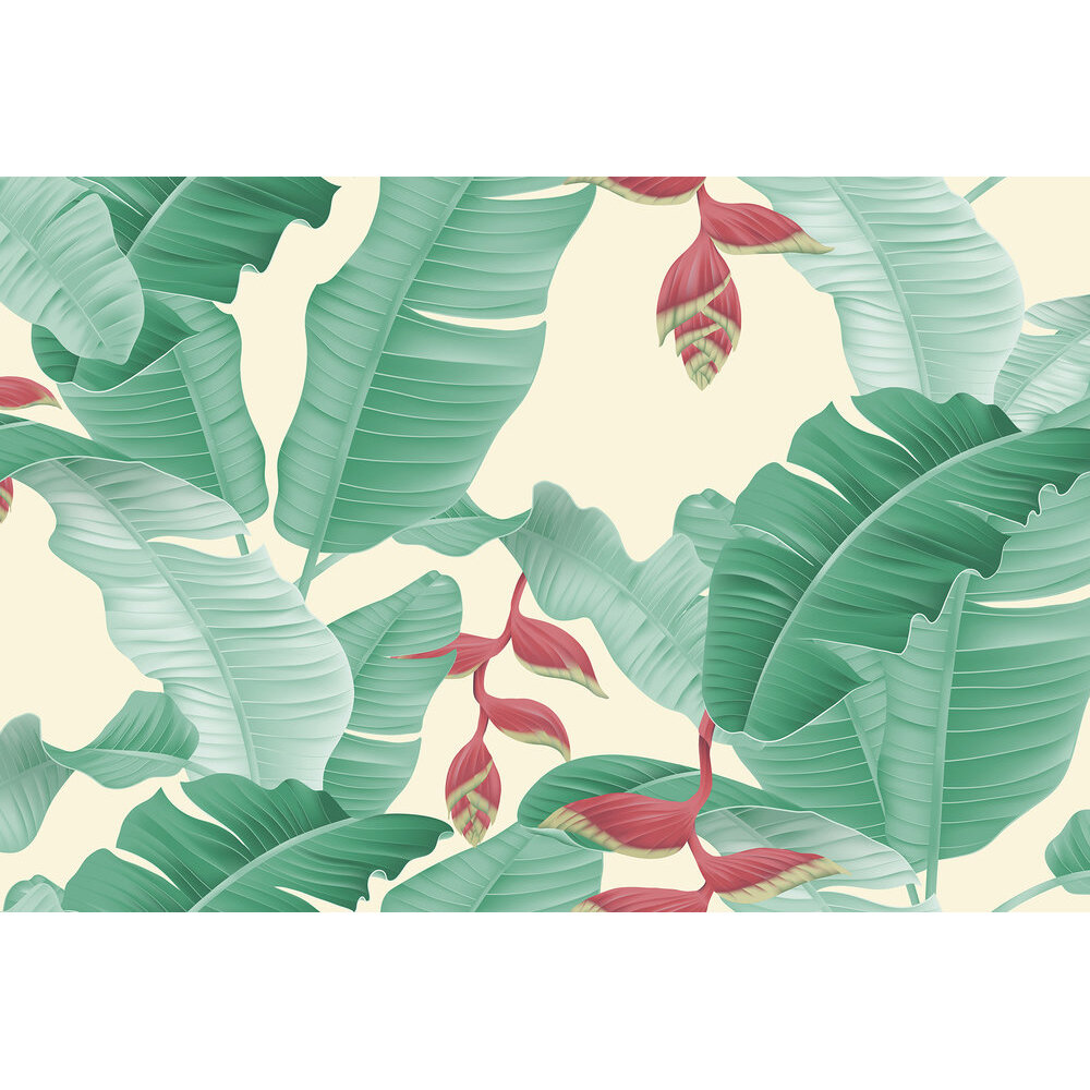 Heliconia Mural - Green - by ARTist