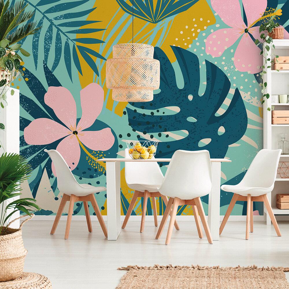 Jungle Plant Mural - Multi - by ARTist