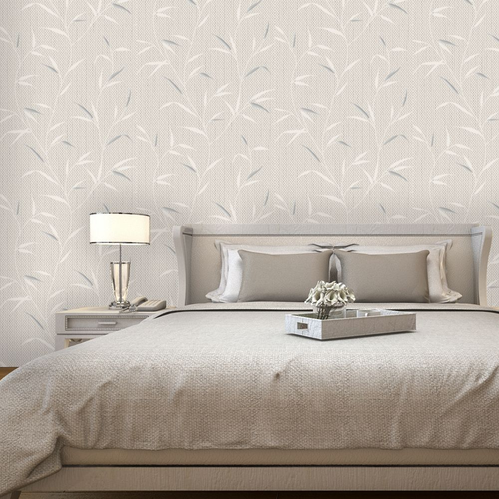 Amelie Wallpaper - Beige - by Albany