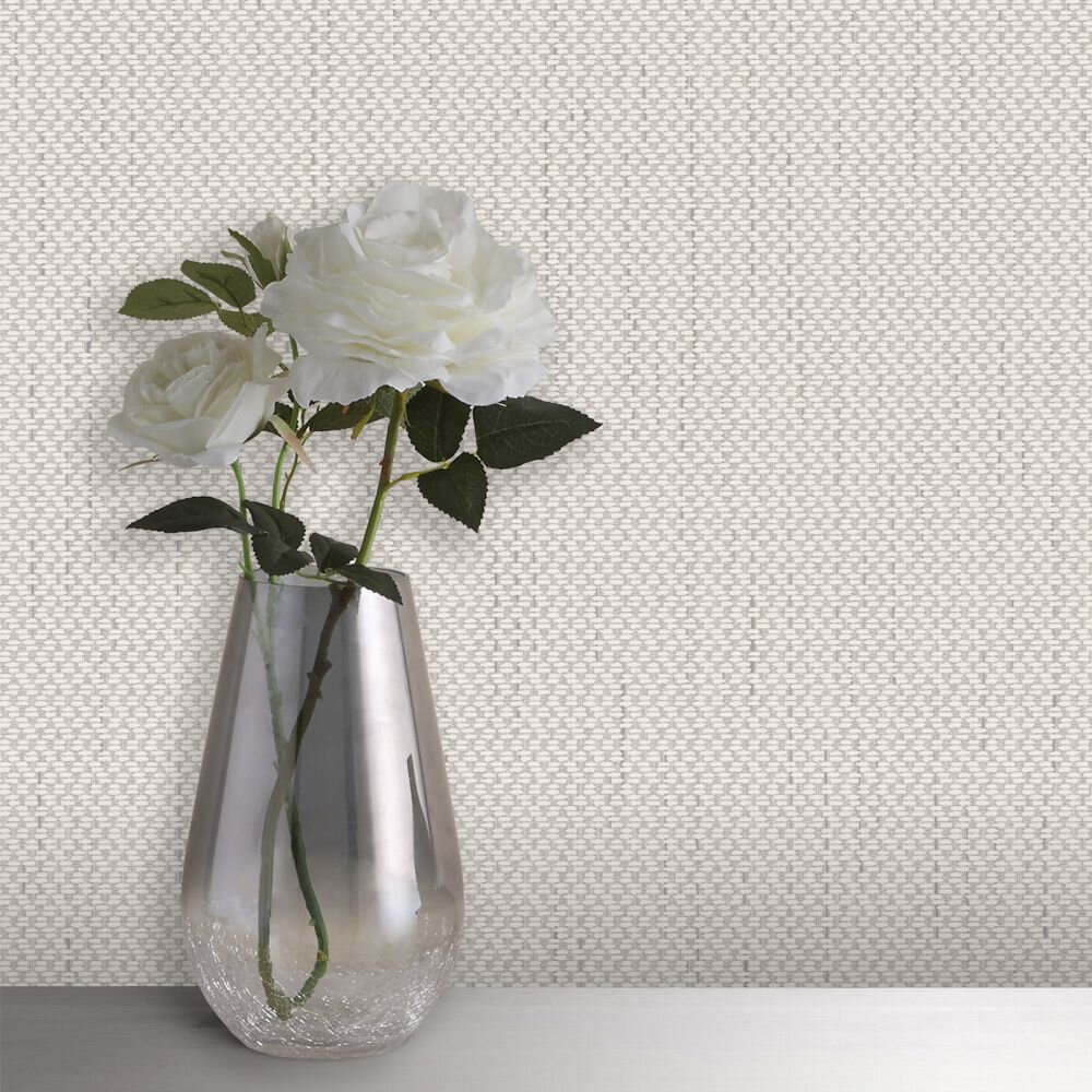 Amelie Texture Wallpaper - Beige - by Albany