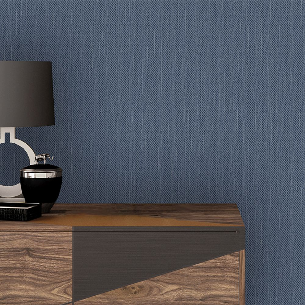 Amelie Texture Wallpaper - Navy - by Albany