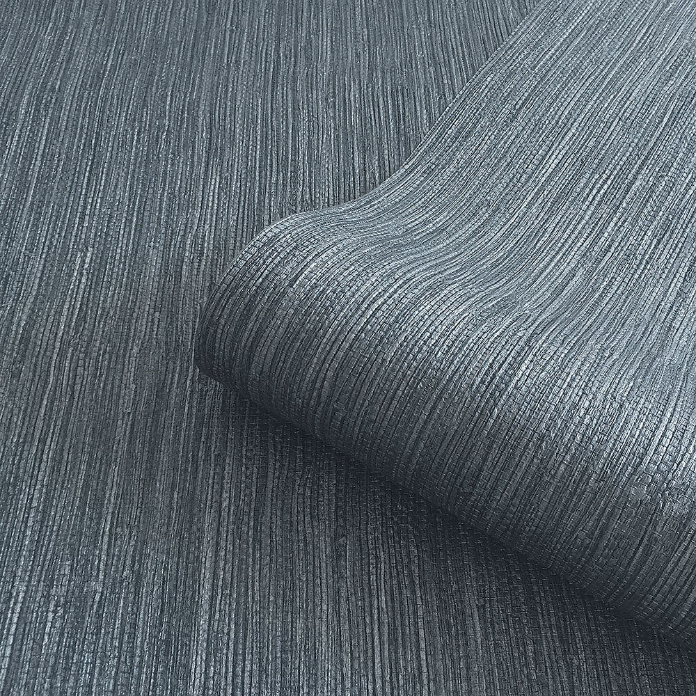 Grasscloth Texture Wallpaper - Navy - by Albany