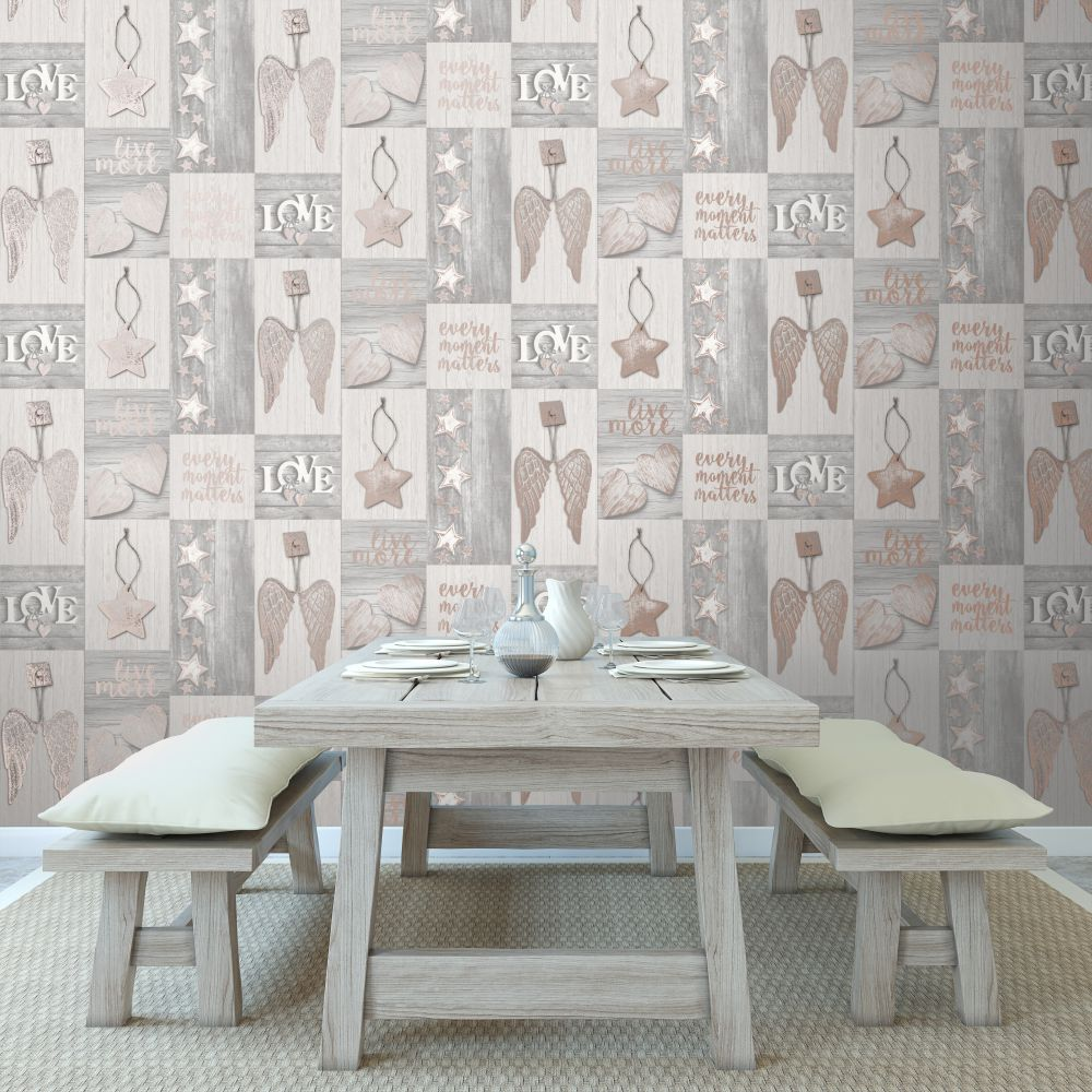 Starlight Home Wallpaper - Beige - by Albany