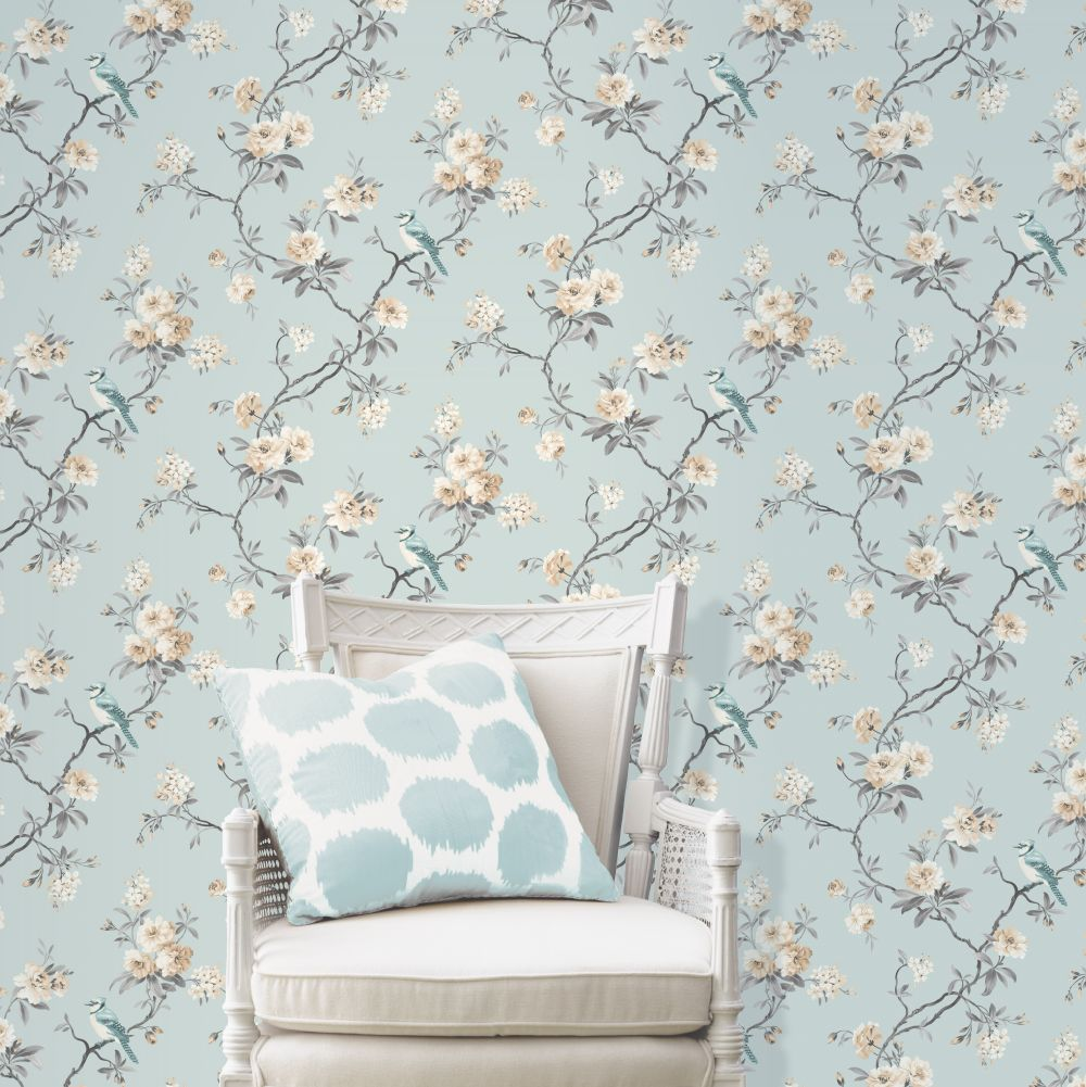 Chinoserie Wallpaper - Light Blue - by Albany