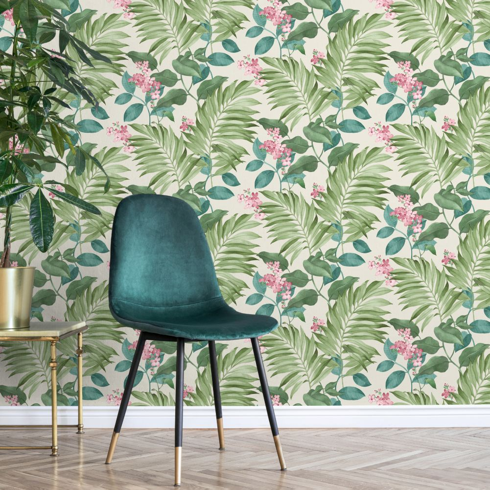 Eden Tropical Wallpaper - Green - by Albany