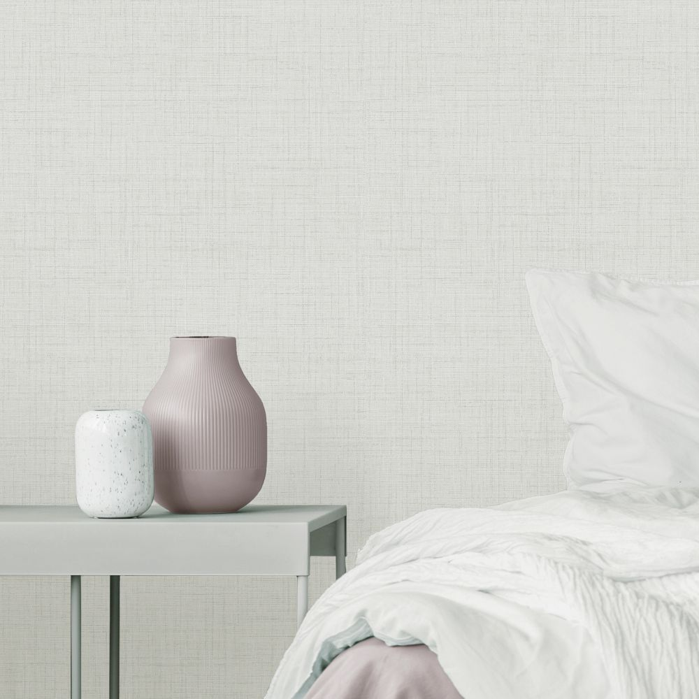 Larson Texture Wallpaper - Ivory - by Albany