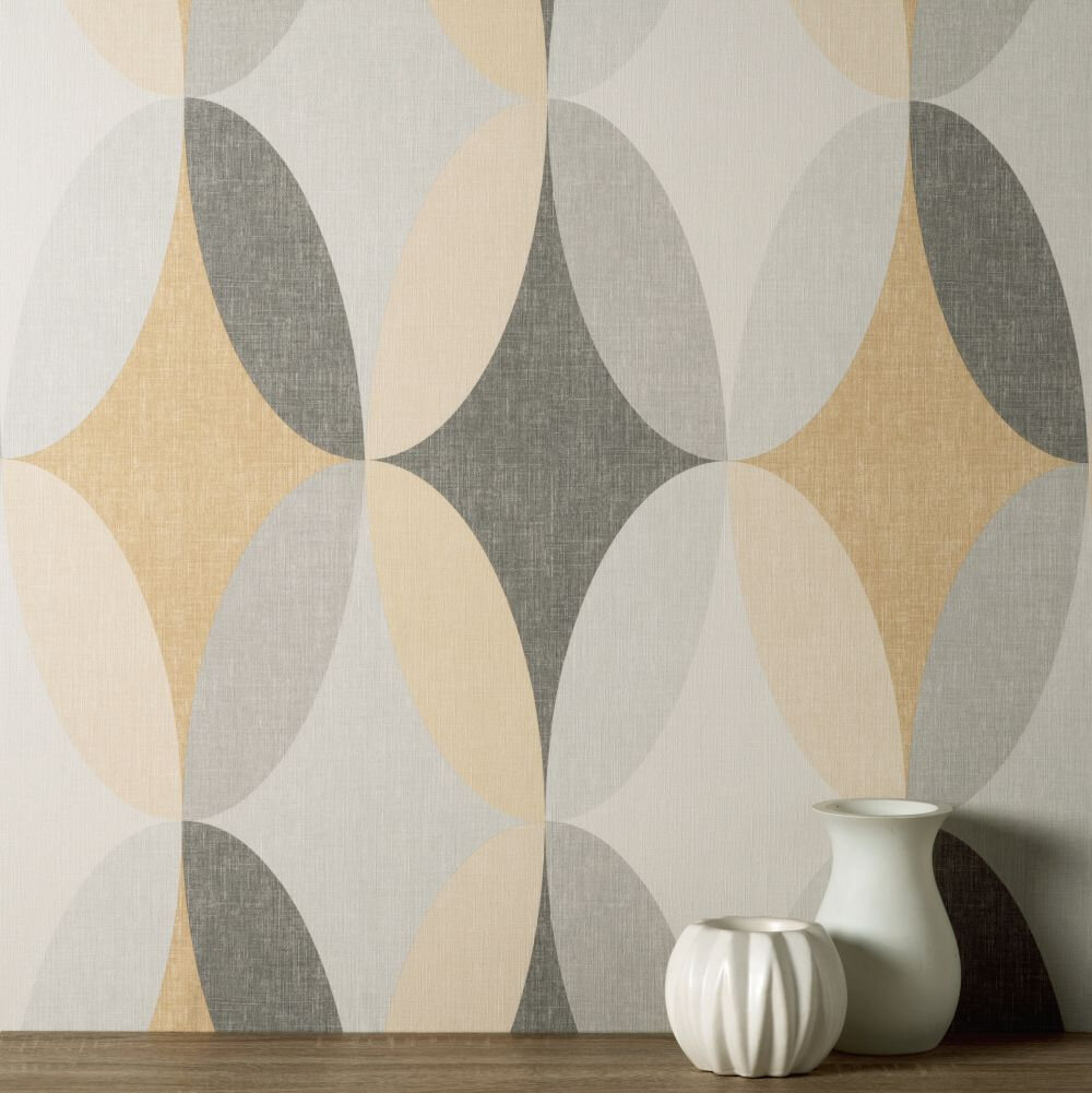 Kirby Geo Wallpaper - Yellow - by Albany