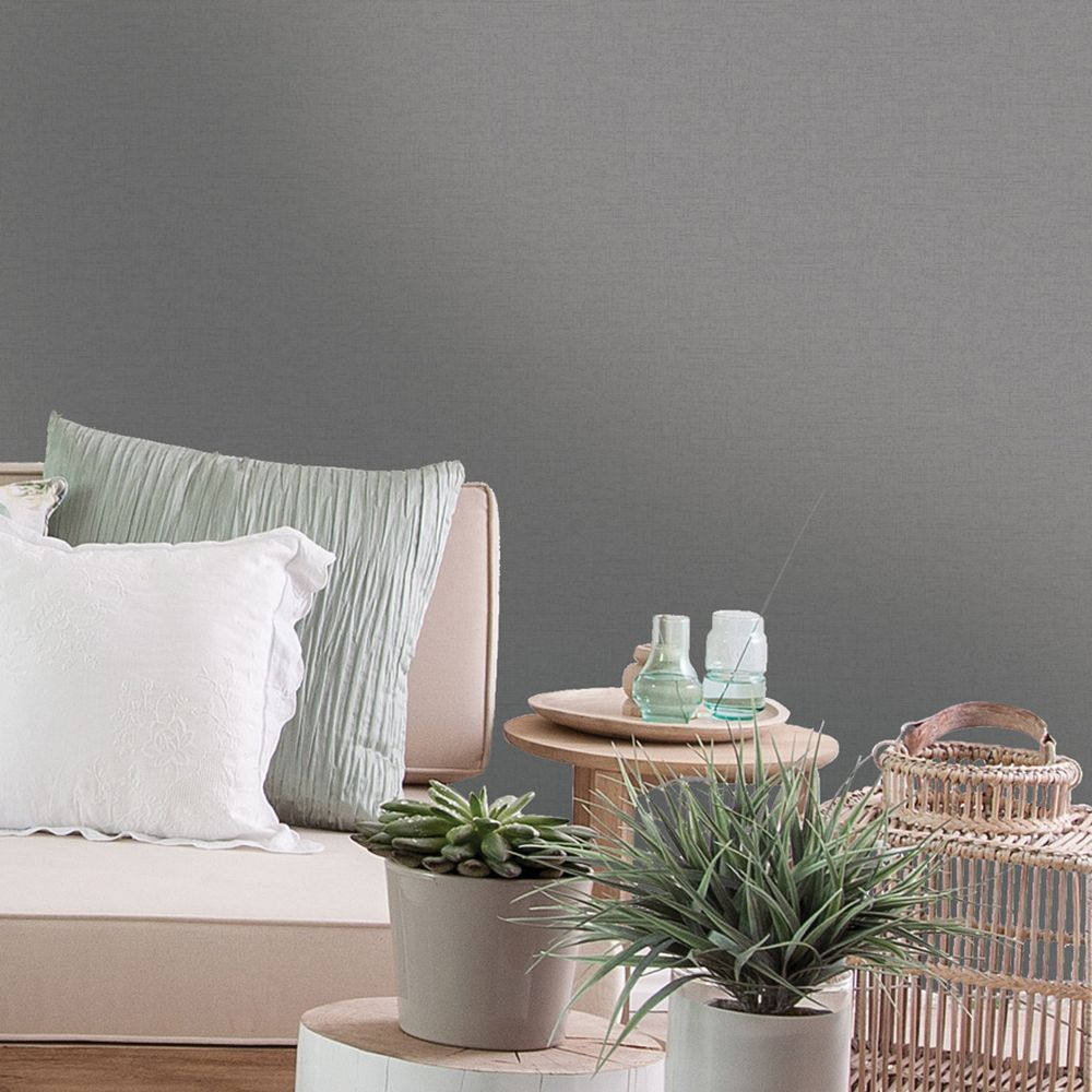 Glistening Texture Wallpaper - Dark Grey - by Albany