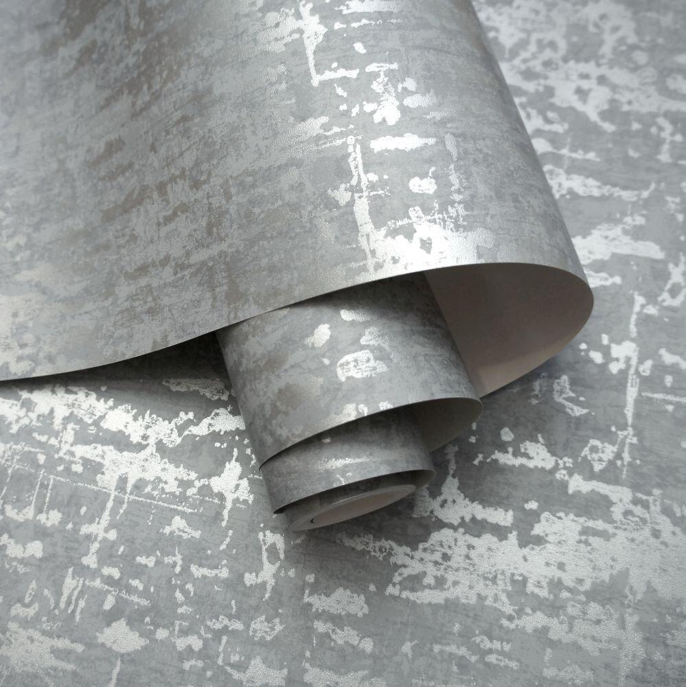 Loft Wallpaper - Grey - by Albany
