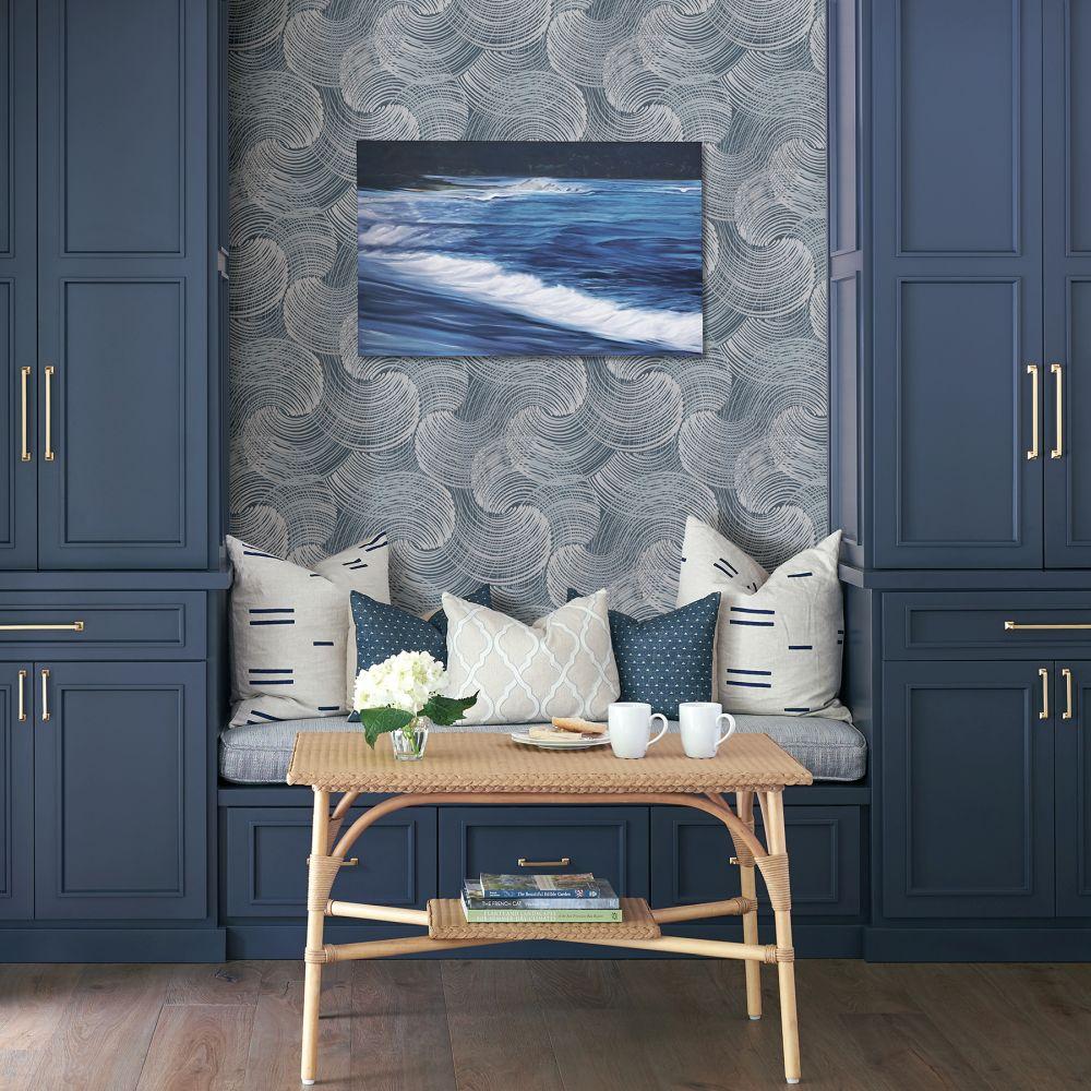 Karson Wallpaper - Blue - by A Street Prints
