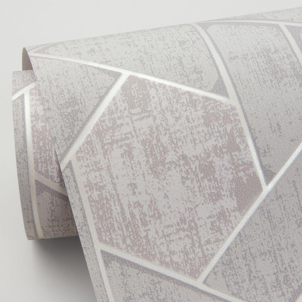 Granada Wallpaper - Light Grey - by A Street Prints