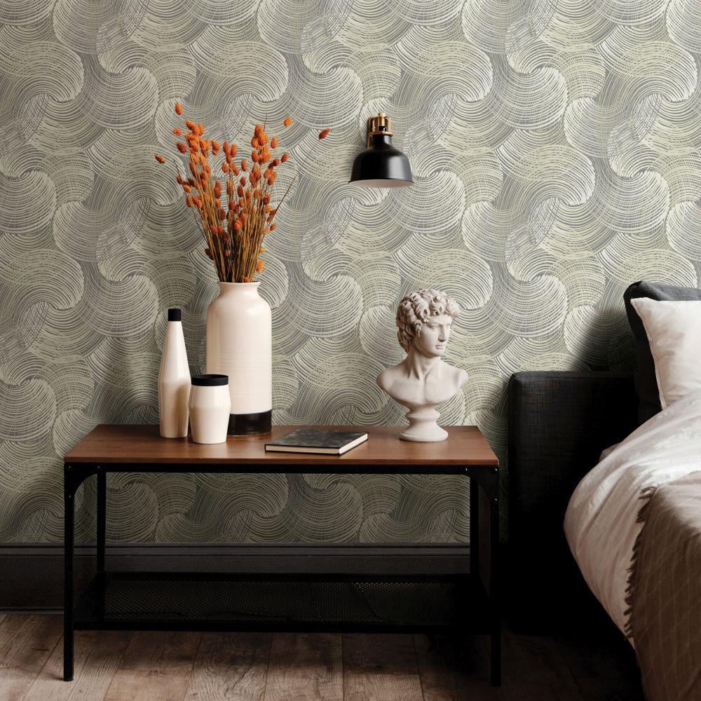 Karson Wallpaper - Grey - by A Street Prints