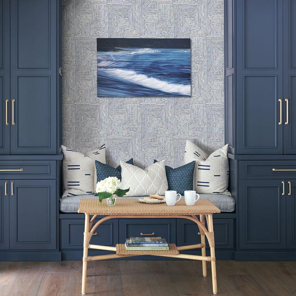 Merritt Wallpaper - Blue - by A Street Prints