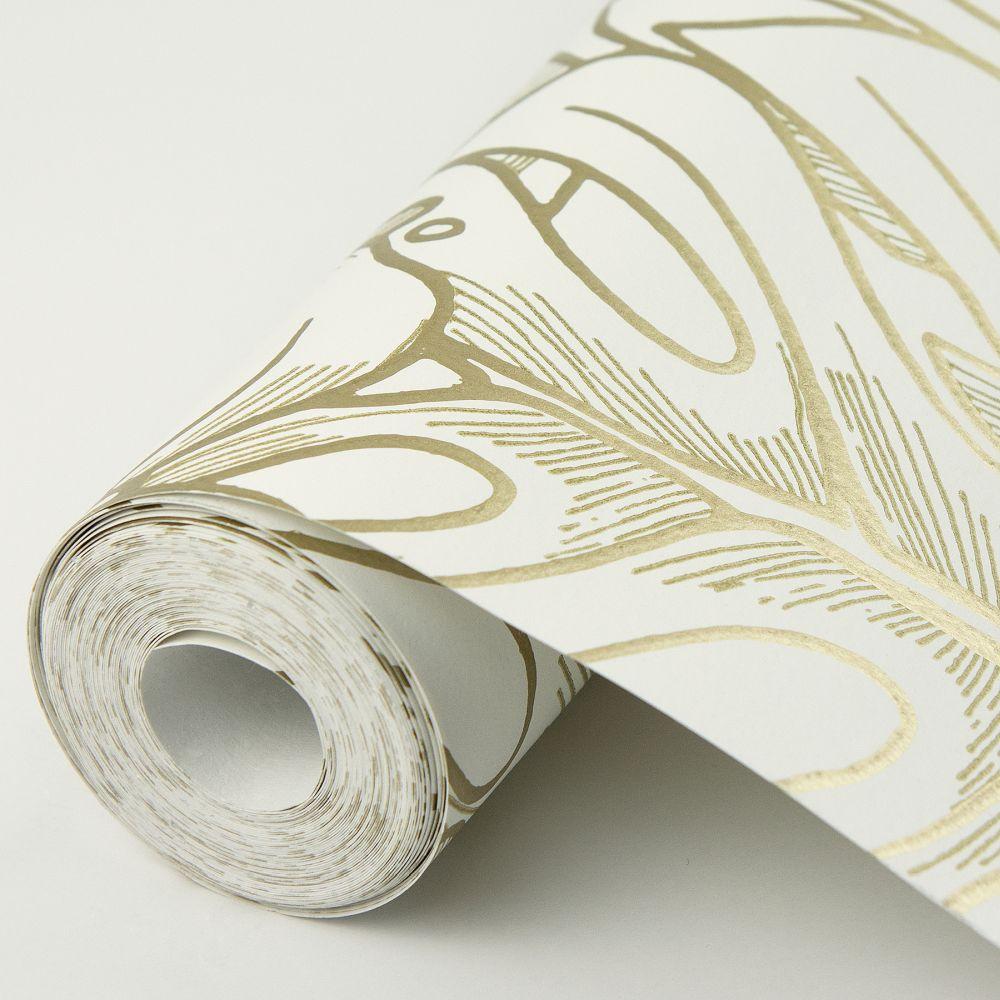 Balboa Wallpaper - Gold - by A Street Prints