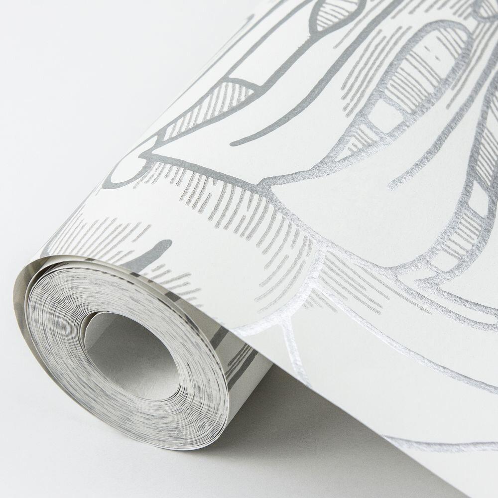 Balboa Wallpaper - Silver - by A Street Prints