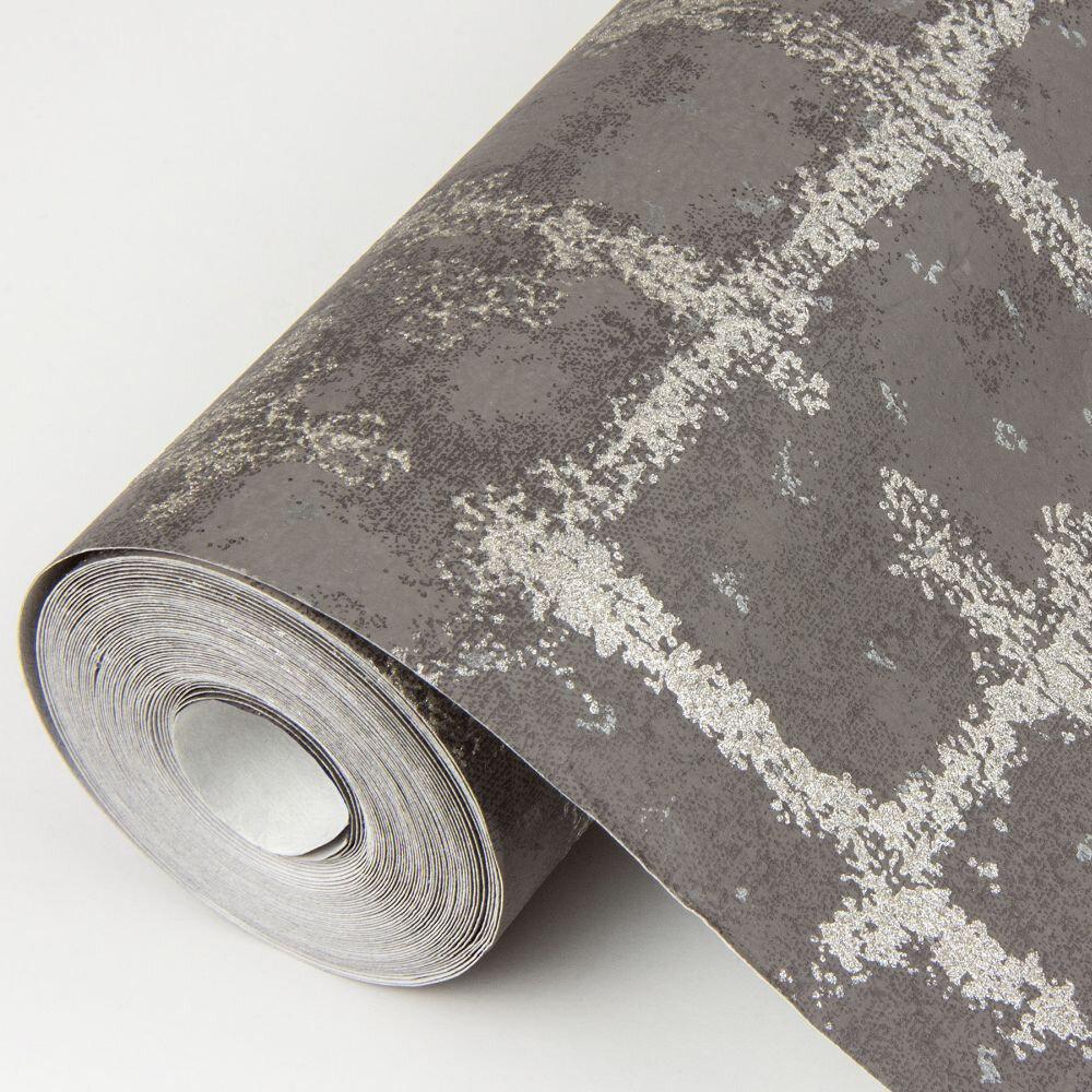 Shea Wallpaper - Charcoal - by A Street Prints