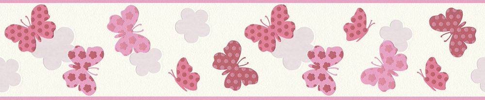 Butterfly Border - Pink - by Albany