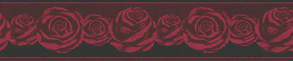 Roses Border - Red - by Albany