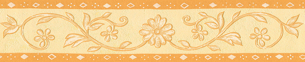 Daisy Diamond Border - Orange - by Albany