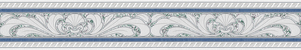 Textured Fan Border - Blue - by Albany
