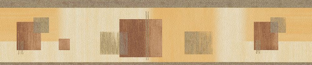 Abstract Square Border - Orange - by Albany