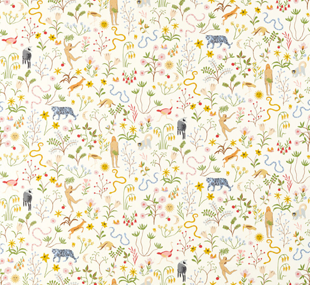 Garden of Eden Fabric - Popsicle - by Scion