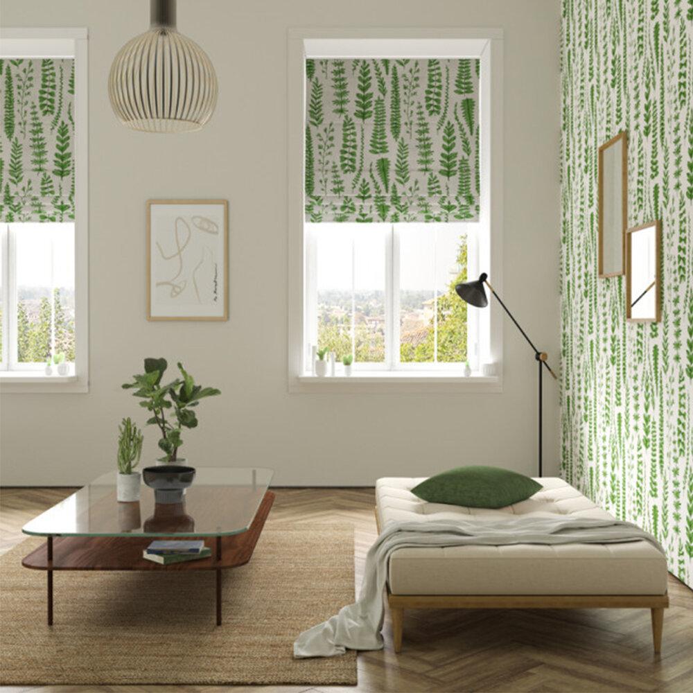 Ferns Fabric - Juniper - by Scion